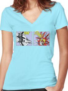 Frak! Women's Fitted V-Neck T-Shirt