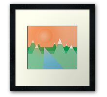 Mountains Under the Sky Framed Print
