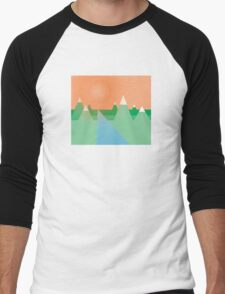 Mountains Under the Sky Men's Baseball ¾ T-Shirt