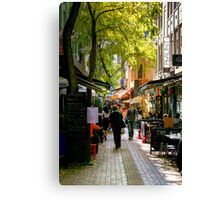 Hardware Lane at Lunchtime Canvas Print