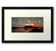 Sunset on the Camden Haven River Framed Print