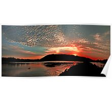 Sunset on the Camden Haven River Poster