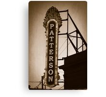 Patterson Theater - 1 Canvas Print
