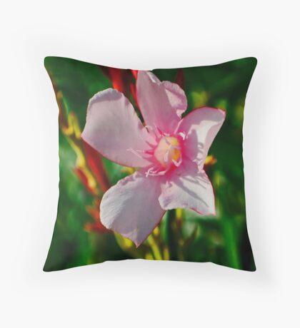 Oleander Throw Pillow