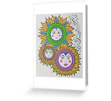 Sun Face Greeting Card