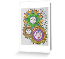 Sun Faces/6 - Three Greeting Card