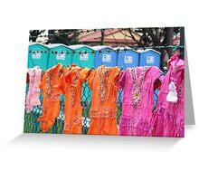 Singapore - Improvised clothesline Greeting Card