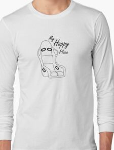 bucket seat happiness  Long Sleeve T-Shirt