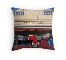 Melbourne -  Verandah clotheslines Throw Pillow