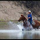 Taking him for a splash... by Anna Ryan