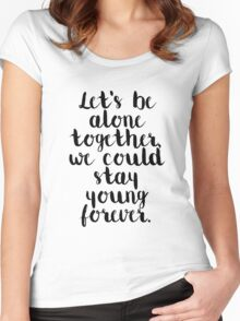 Fall Out Boy Lyric Women's Fitted Scoop T-Shirt