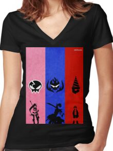 Gurren Lagann - Yoko, Kamina, and Simon Women's Fitted V-Neck T-Shirt