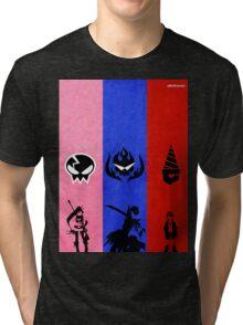 Gurren Lagann - Yoko, Kamina, and Simon Tri-blend T-Shirt
