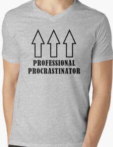 Professional Procrastinator Mens V-Neck T-Shirt