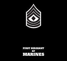 USMC E8 1stSgt BW by Sinubis