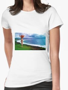 Fantasy at Lennox Head Womens Fitted T-Shirt