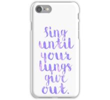 Fall Out Boy Lyric iPhone Case/Skin
