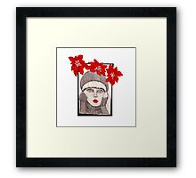 Poinsettias Framed Print