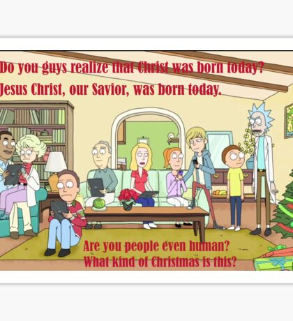 Rick and Morty-- Christmas Sticker