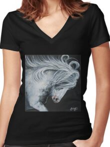 Meet Challenges Head On Women's Fitted V-Neck T-Shirt