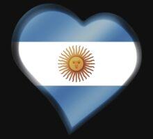 Argentine Flag - Argentina - Heart Kids Tee
