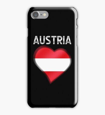 Austria - Austrian Flag Heart & Text - Metallic iPhone Case/Skin