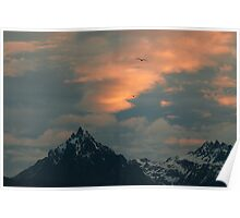Martial Mountains Morning Poster