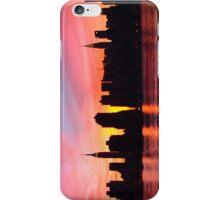 New York City Skyline in Pink Sunset iPhone Case/Skin