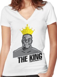 King Megatrip's Punch Out (light t-shirts) Women's Fitted V-Neck T-Shirt
