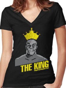 King Megatrip's Punch Out (dark t-shirts) Women's Fitted V-Neck T-Shirt