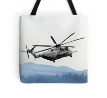Marine Helicopter At Air Show Tote Bag
