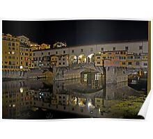 Ponte Vecchio at night Poster