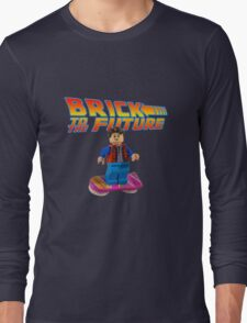 Brick to the Future with Marty Mcfly Long Sleeve T-Shirt