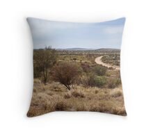 Amata back road Throw Pillow