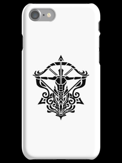 Sagitarius Black iPhone case by elangkarosingo