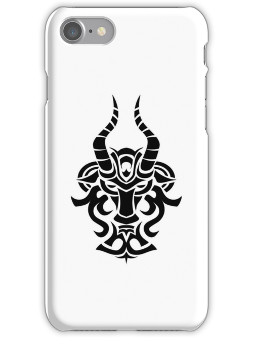 Capricorn Black iPhone case by elangkarosingo