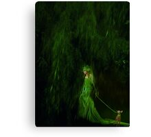 Stroll Into Green Canvas Print
