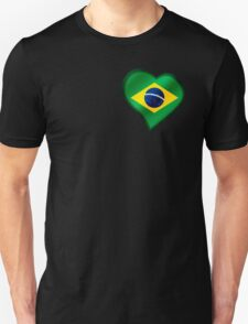 Brazilian Flag - Brazil - Heart Unisex T-Shirt