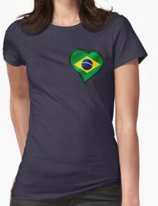 Brazilian Flag - Brazil - Heart T-Shirt