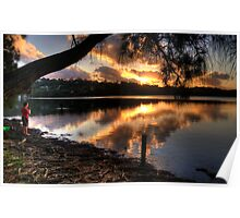 Twilight Meditation - Narrabeen Lakes, Sydney - The HDR Experience Poster