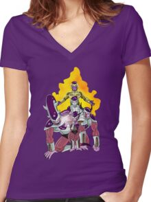 The Evolution of Frieza Women's Fitted V-Neck T-Shirt