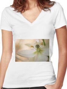 Flower bloom Women's Fitted V-Neck T-Shirt