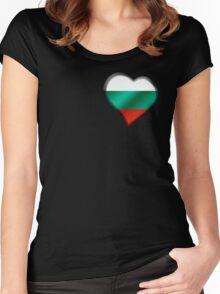Bulgarian Flag - Bulgaria - Heart Women's Fitted Scoop T-Shirt
