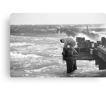Pier Destruction Metal Print