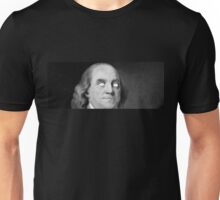 BEMJAMIN FRANKLIN WHITED OUT EYES Unisex T-Shirt