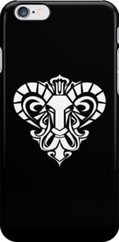 Aries White iPhone case by elangkarosingo