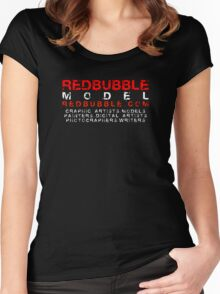 REDBUBBLE MODEL Women's Fitted Scoop T-Shirt