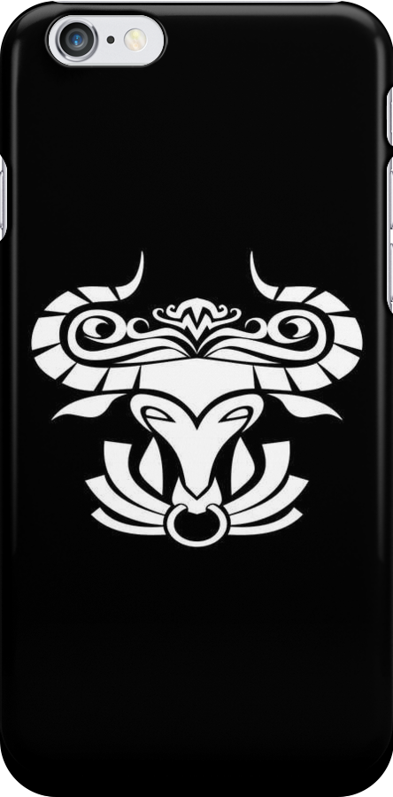 Taurus White iPhone case by elangkarosingo