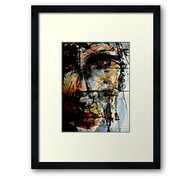 behind wire..... Framed Print