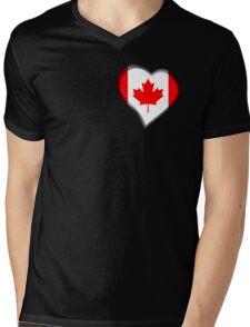 Canadian Flag - Canada - Heart Mens V-Neck T-Shirt